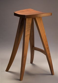 Zephyr Barstool. Custom furniture by Seth Rolland. Available in Walnut, Alder and Ash