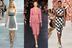 Spring 2015 Fashion Trends From Fashion Week: Glamour.com Gingham  Fall may have brought us proper plaids, but for spring it's all about the tiny check. The best part? It has a sexy, swingy vibe—not a touch of Pollyanna in sight.   Diane von Furstenberg, Altuzarra, Oscar de la Renta