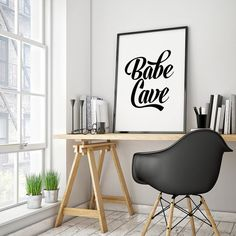 * PRINTABLE INSTANT DOWNLOAD POSTER *  Wall art for the ultimate babe cave!  You can have the poster framed or even printed on canvas for
