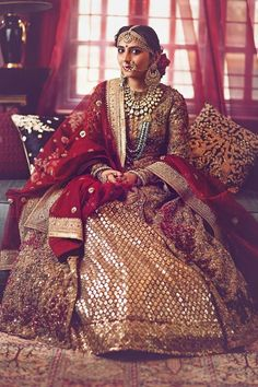 Best of the best Sabyasachi bridal lehenga collection for winter weddings Indian Bridal Fashion, Indian Bridal Wear, Indian Wedding Outfits, Pakistani Bridal, Bridal Outfits, Indian Outfits, Bridal Dresses, Indian Wear, Sabyasachi Lehenga Bridal