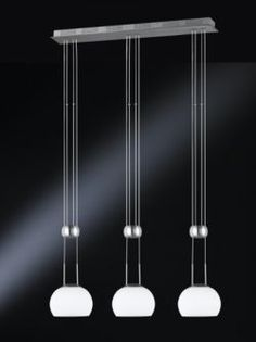 Buy Wofi Lansing Three Light Halogen Rise and Fall Pendant in Nickel from our Pendants range - Tesco.com