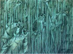 States of Mind- Those who stay - Umberto Boccioni - WikiArt.org