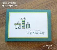 Zum Ehrentag – Eine Geburtstagskarte auch für Männer   geschtempelt, Stampin Up!