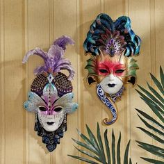 The Venetian Masquerades Sculptural Wall Masks: Maiden del Cortina & Maiden del Belluno