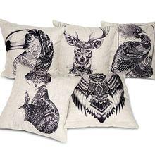 creative totem oreiller main housse- établi de coton linge de maison de style coussins oreiller, coussin décoratif, coussin, coussin de sofa couverture(China (Mainland))