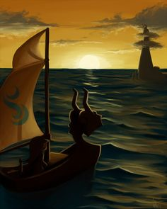 Wind Waker… Approaching Dragon Roost Island as the sun sets
