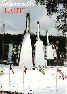 Ski jumping complex in Lahti, Finland, a Place for several world championships in skiing and ski jumping.