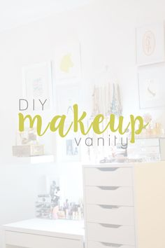 DIY Makeup Vanity: Desk & Storage Space for Beauty, Jewelry, and Perfume // hellorigby.com seattle fashion & lifestyle blogger