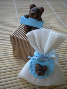 Polymerclay party #favor with little bears - Bomboniere con orsetti in fimo
