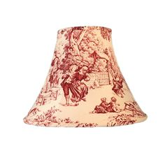 Toile Lamp Shade, Red Toile Lamp Shade, French Lamp Shade, Red Lamp Shade, French Toile Lamp Shade, FREE SHIPPING - Continental USA French Lamp Shades, Pink Lamp Shade, Small Lamp Shades, Eclectic Lamp Shades, Eclectic Lamps, Contemporary Lamp Shades, French Country Fabric, French Country Decorating