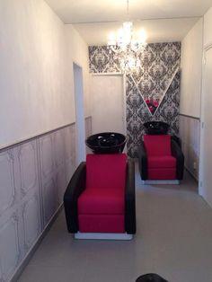 Rialto washingunits. Salon Ideas from Ayala salon furniture. Glamour salon design.