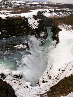 Gullfoss water falls ambient temperature -12oc!