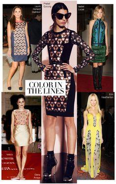 Prints on Prints #lace #color #harpersbazaar #fashion via @kennymilano
