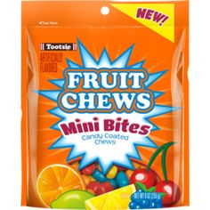 These Chewy and Gummy Candy from Tootsie Roll give you a burst of fruity flavor. The mini candies are tasty little bites that give your sweet tooth what it desires. Fruit Chews, Confectioners Glaze, Gum Arabic, Corn Syrup, Cool Websites, Candy, Mini, Tootsie Rolls, Vanilla