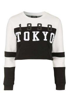 PETITE Tokyo Motif Sweatshirt