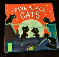 Black Cat Craft - Five Black Cats a book! with extension activity