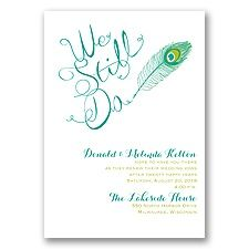 Peacock Calligraphy - Vow Renewal Invitation