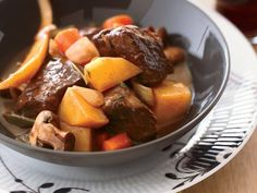 Beef stew recipes include beef stew in red wine sauce and slow cooker Korean beef stew. Plus more beef stew recipes. Hearty Stew Recipe, Best Beef Stew Recipe, Wine Recipes, Beef Recipes, Soup Recipes, Cooking Recipes, Cooking Tips, Recipies, Cooking Quotes