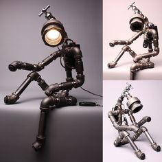 Desk Light Lamp Home Decor Lighting Table Lamp Handmade Faucet Robot Light Ver 2   eBay