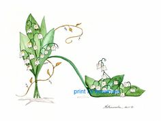 Lily of the Valley Shoe - Sold but more available.    L.S. Brownlee Art Studio