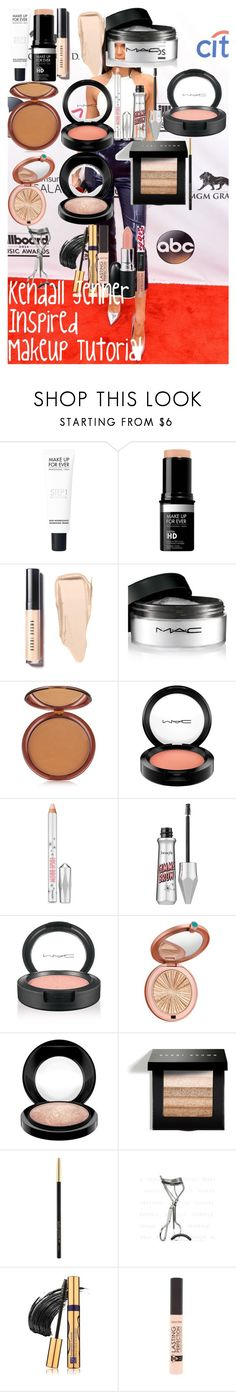 """Kendall Jenner Inspired Makeup Tutorial"" by oroartyellie on Polyvore featuring beauty, MAKE UP FOR EVER, Bobbi Brown Cosmetics, MAC Cosmetics, Estée Lauder, Benefit, Lancôme, shu uemura and Rimmel"