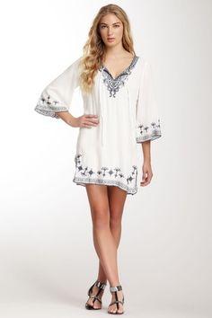 Embroidered Tunic, super cute beach coverup/dress