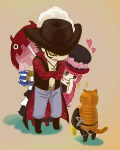 One Piece - Mihawk x Perona