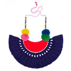 Downtown Boogie Woogie tassel pom pom necklace