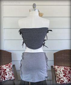 WobiSobi: No Sew Skirt: DIY No Sew Refashion, Yoga Skirt, Diy Furniture Renovation, Diy Fashion, Fashion Outfits, How To Make Skirt, T Shirt Diy, Diy Clothing, Body Shapes
