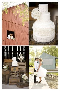 Love the cake. rustic elegance wedding inspiration