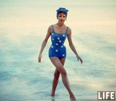 1950s Polka Dot Swimsuit in LIFE Magazine