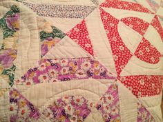 Vintage Handmade Quilt Four Patch Southern Moon Multi Colored | eBay