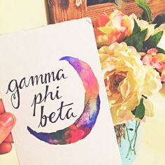 This original Gamma Phi Beta watercolor printable wall art design is the perfect addition to any home or office!  100% of every penny you spend