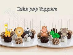 Printable BABY SAFARI  Cupcake Topper, Cake Pop Topper,picks, decor, dye