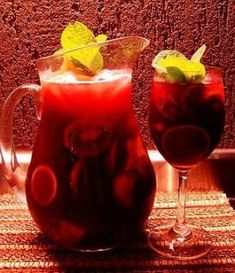 I think it's going to be the summer of the Sangria. Fruit Cups, Fruit Drinks, Bar Drinks, Fruit Smoothies, Cocktail Drinks, Cold Drinks, Cocktails, Beverages, Fruit Juice Recipes