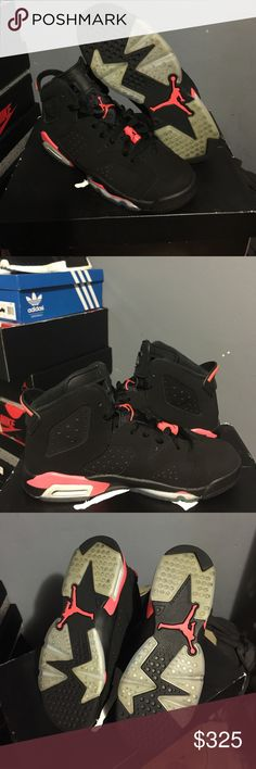 Air Jordan Retro 6 Infrared Air Jordan Retro Infrared 6 Size 6Y Comes with original box Almost near deadstock condition  100% authentic Jordan Shoes