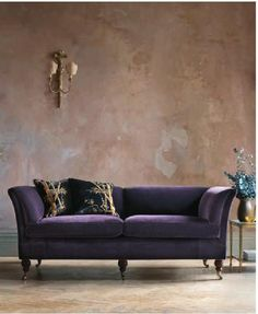 Elegant pompadour high back sofa