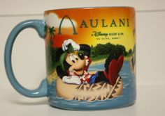 Brand New Disney Aulani Mickey Mouse Coffee Mug Hawaii Donald Goofy Minnie Mouse aulani mickey, mickey mouse, goofi minni, disney aulani, minnie mouse, hawaii collect, minni mous, donald goofi, disney hawaii
