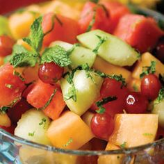 Fresh Fruit Salad With Honey-Lime-Mint Dressing Recipe | Farm Flavor