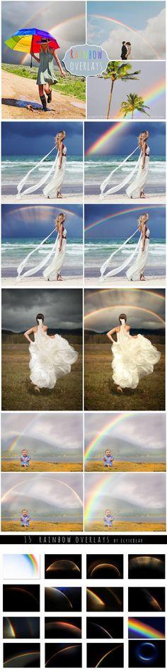 15 Rainbow Photoshop Overlays. Photoshop Layer Styles. $8.00