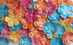 Fun Flowers Bigz die: On Sale this Week Beautiful use of colour