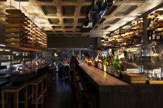 Eat Drink Design Awards winner - Hihou, Melbourne, VIC, by Denton Corker Marshall. Australian Architecture, Interior Architecture, Interior Design, Modern Interior, Cafe Restaurant, Restaurant Design, Melbourne Restaurants, Café Bar, Hospitality Design