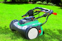 Gardena amp LithiumIon Cordless Push Reel Lawn Mower >>> Information could be found by clicking the picture. (This is an affiliate link). Reel Lawn Mower, Walk Behind Lawn Mower, Lawn Service, Lawn Maintenance, Lawn And Garden, Lawn Care, Irrigation, Things To Know, Outdoor Gardens