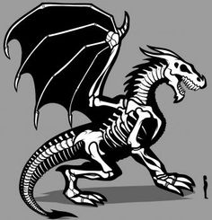 How to Draw a Dragon Skeleton, Dragon Skeleton, Step by Step, Dragons, Draw a Dragon, Fantasy, FREE Online Drawing Tutorial, Added by Dawn, January 25, 2012, 11:54:33 pm