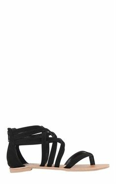 Deb Shops Gladiator Sandal with Zip Back