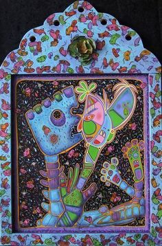 A Circular Life...Let me Out! - Retablo,  Contemporary art, abstract art, painting, acrylic painting, Arizona contemporary artist Veronica Escudero