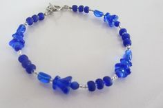 Royal Blue Glass Beaded Bracelet Blue by ThePookiesJewelryBox, $10.00