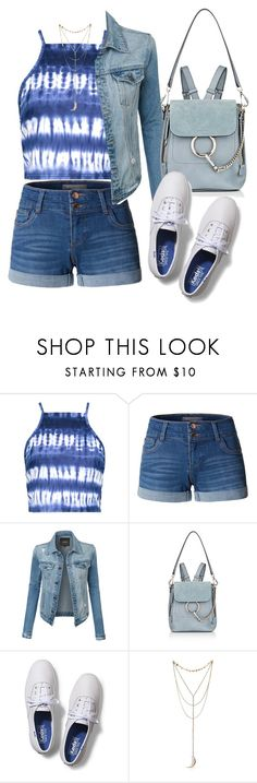 """""""Untitled #382"""" by ghea-mareta ❤ liked on Polyvore featuring Boohoo, LE3NO, Chloé and Keds"""