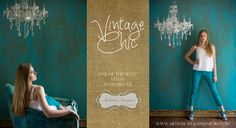 Vintage Chic Senior Portraits by Master Photographer Elizabeth Homan of Artistic Images from San Antonio, Texas. www.portraitsbyelizabeth.com