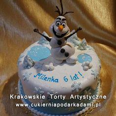 102. Tort z Olafem z Krainy Lodu. Frozen cake with snowman Olaf.